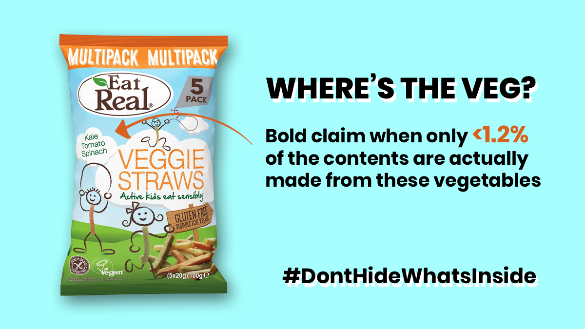 Veggie Straws misleading claims